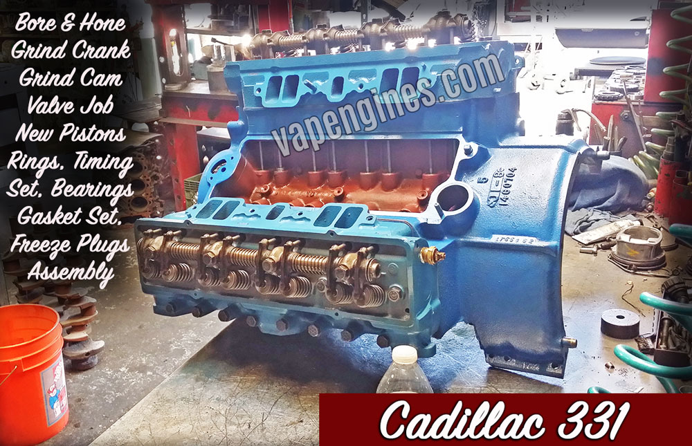 Cadillac 331 remanufactured engine