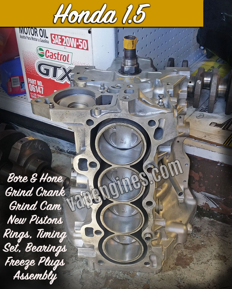 Honda 1.5 short block engine rebuild