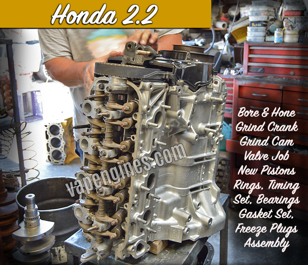 Honda 2.2 remanufactured engine shop