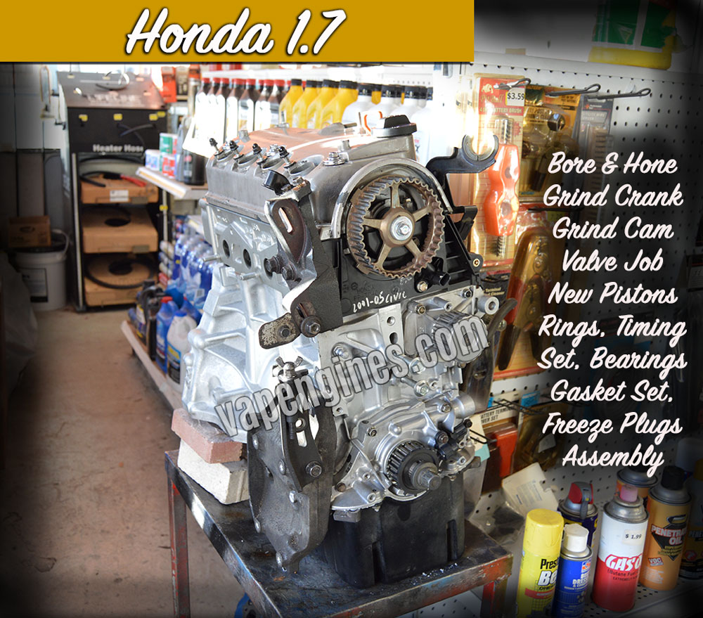 Honda Civic 1.7 engine rebuild shop