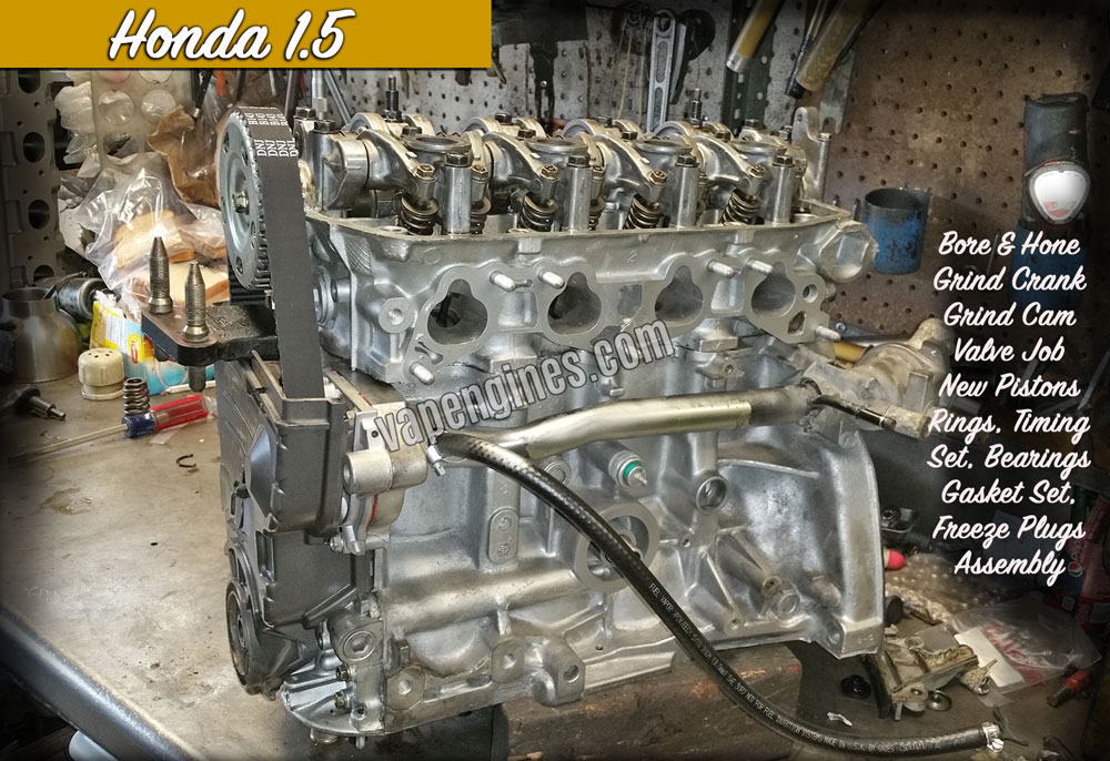 Remanufactured Honda 1.5 engine